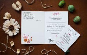 ślubna wkładka do zaproszeń
