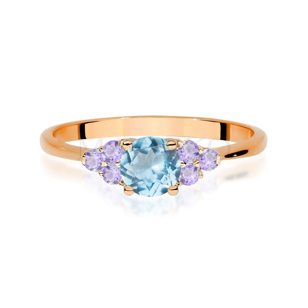 różowe złoto - pierścionek z Marko